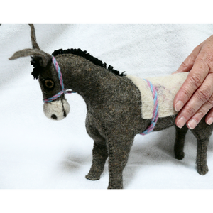 Felt Donkey - Stuffed Animal - Fair Trade