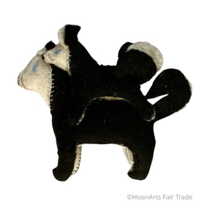 Handmade Felted Siberian Husky Ornament from Kyrgyzstan