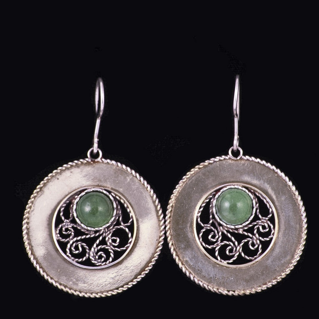 art sterling silver handmade rare earrings syle greek filigree medieval
