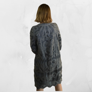 Nuno-Felted Kyrgyz Felted Silk Jacket-Gray