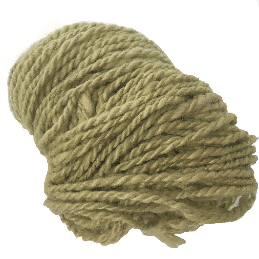 Hand Spun Mohair Yarn - Light Green - HoonArts - 1