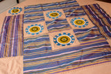 Suzani Hand-Embroidered Bedspread Set Hand Embroidered Peach Green - HoonArts - 7