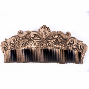 Hand Carved Ornamental Wooden Comb, Large - Fair Trade - HoonArts - 1