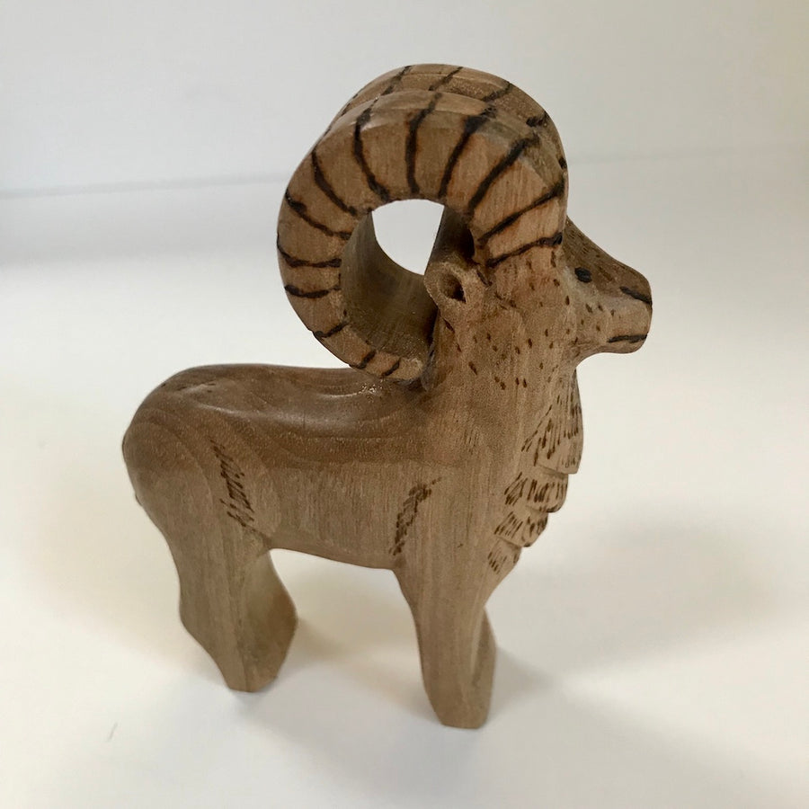 Hand Carved Miniature Marco Polo Sheep