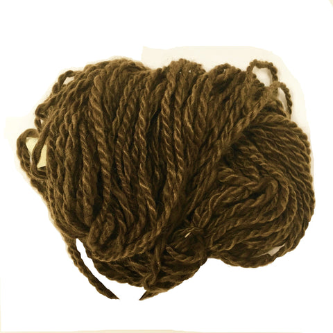 Hand Spun Mohair Yarn - Dark Brown