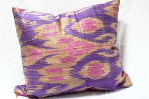 Ikat Pillow Cover, Handmade, Throw, Decorative, - HoonArts