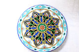 Kundal Painting, Round, Ceramic Plate, Decorative, Fair Trade - HoonArts - 4