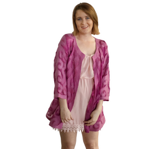 Pink Felted Silk Special Occasion Jacket