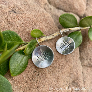 "Small Round Silver Disc Earrings from Krygyzstan-""Mirgul"""