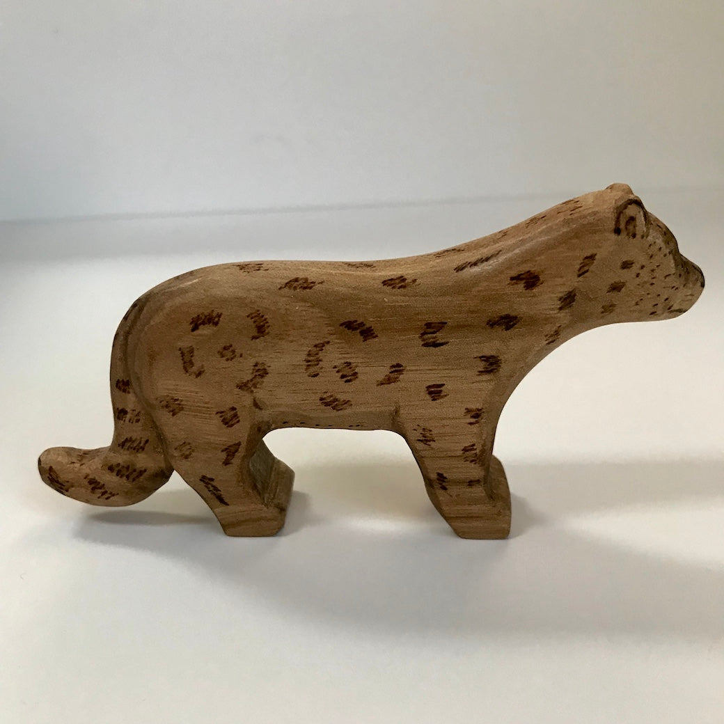 Hand Carved Miniature Snow Leopard