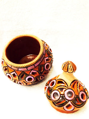 Ceramic Sugar Bowl - Tall - Fair Trade - HoonArts - 2