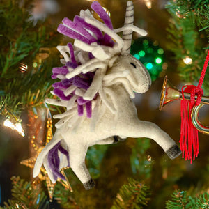 Handmade Felt Ornament-Purple Mane-from Kyrgyzstan