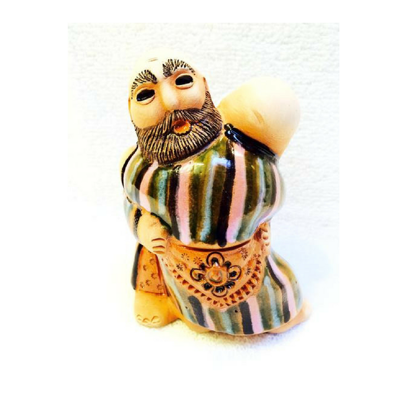 Ceramic Wrestlers Figurine - Fair Trade - HoonArts - 1