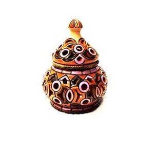 Ceramic Sugar Bowl - Tall - Fair Trade - HoonArts - 1