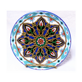 Kundal Painting, Round, Ceramic Plate, Decorative, Fair Trade - HoonArts - 3
