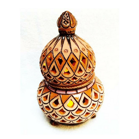 Ceramic Aroma, Candle, Incense, Lamp (Dome Lid) - Fair Trade