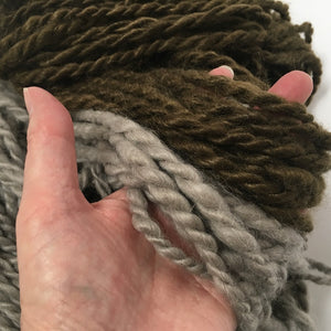 Hand Spun Mohair Yarn - Dark Brown - HoonArts - 2