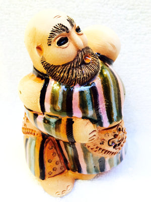 Ceramic Wrestlers Figurine - Fair Trade - HoonArts - 4
