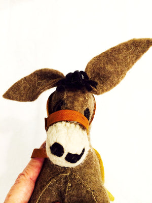 Felt Donkey - Stuffed Animal - Fair Trade - HoonArts - 11