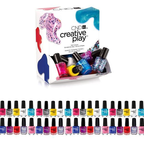 40 Pieces: CND Deluxe Nail Polish Set - Buy 1 Get 1 Free!