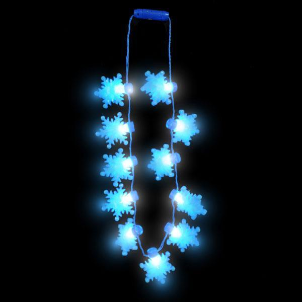 LED Snowflakes Holiday Party Necklace - Multi-Packs Available!