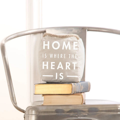 """Home is Where The Heart Is"" Door Stopper"