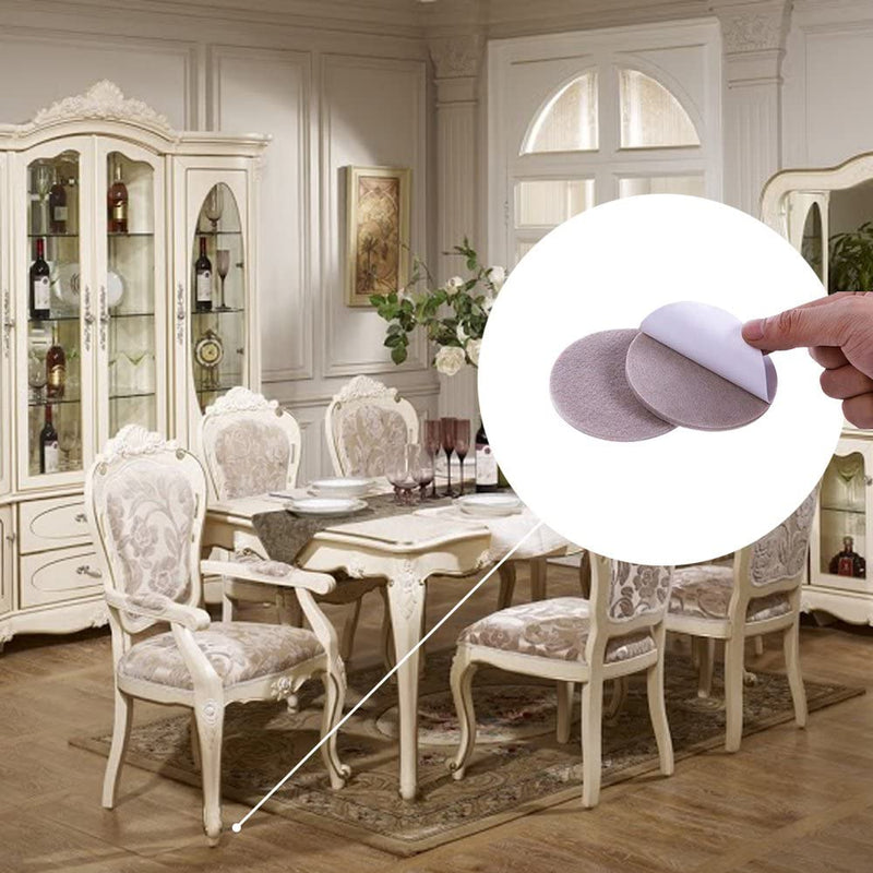 102-Piece Set: Furniture & Surface Protector Soft-Touch Felt Pads in Assorted Sizes