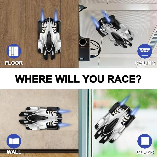 Remote Control Wall Climbing Car - 4 Colors Available!