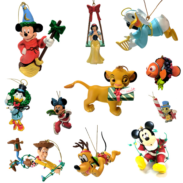 8upsell - 2 Pack: Disney Officially Licensed Collectible Holiday Ornaments
