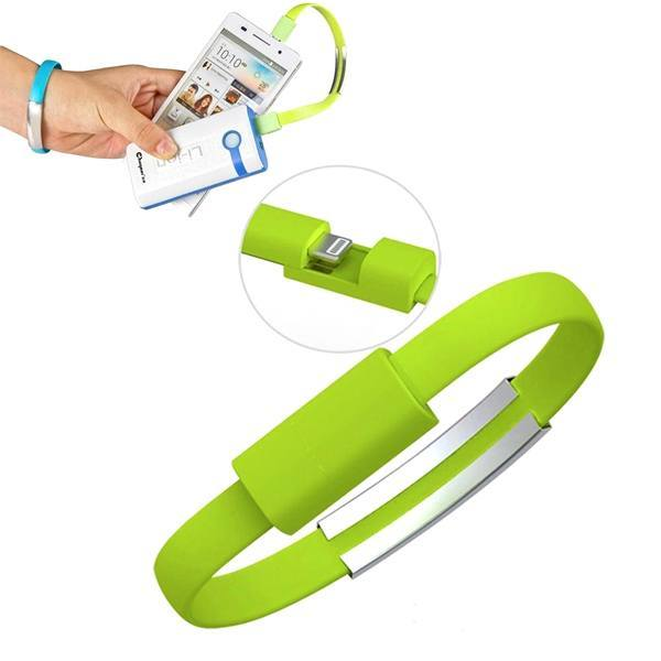 8upsell - Silicone Lightning IPhone USB Bracelet - Assorted Colors