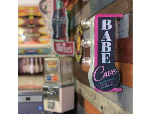 Vintage Metal Marquee LED Sign - Babe Cafe