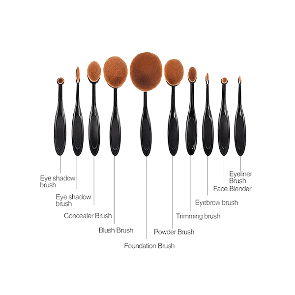"VIP Deal - ""10 Piece Makeup Brush Set + Insta-Brow Stamp Kit"""