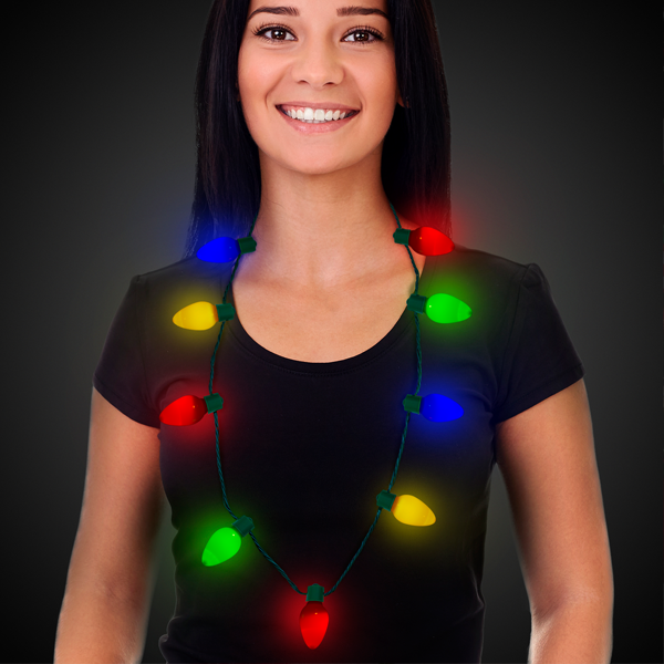 LED Christmas Light Party Necklace