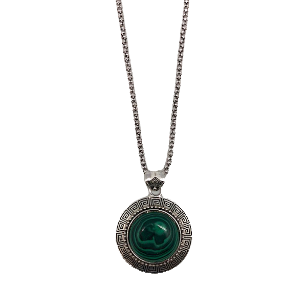 Bohemian Jade Pendant & Chain Necklace