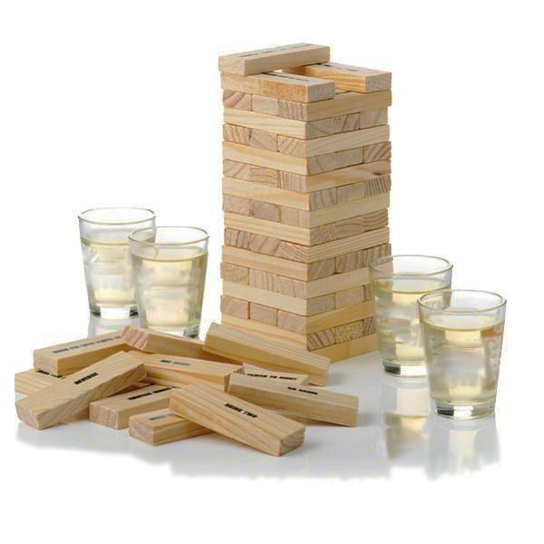 Jenga Drinking Game With 4 Shot Glasses - VIP Special: ONLY $9.99!