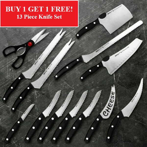 ON SALE NOW! Buy 1 Get 1 Free - 13 Piece Knife Set