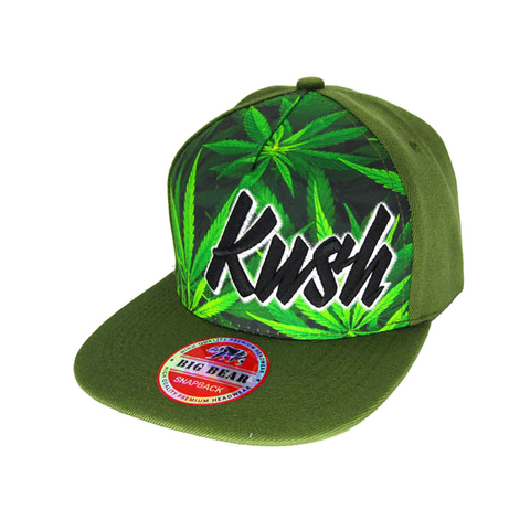 Kush Leaf Stitched and Embroidered Baseball Cap - 7 Colours Available!