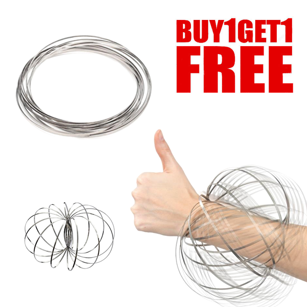 DEAL OF THE DAY! - Toroflux 3D Kinetic Flow Ring Interactive Spring Toy - BUY 1 GET 1 FREE + FREE SHIPPING!
