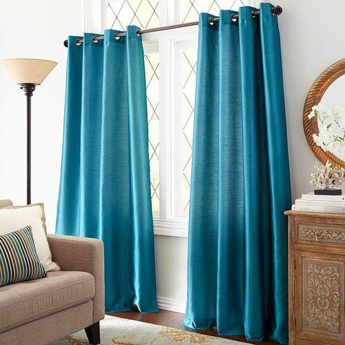 Silky Semi-Sheer Grommet Curtain Panels
