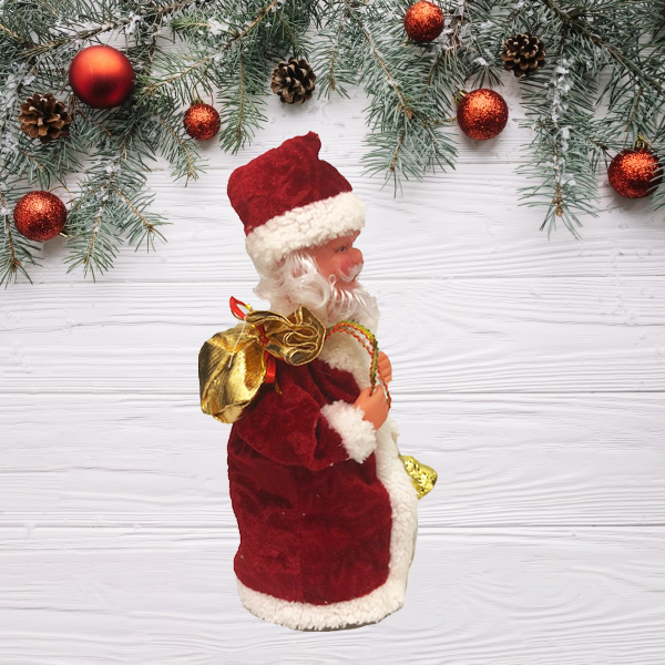 Musical Decorative Twirling Santa Doll