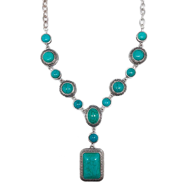 Vintage Turquoise & Silver Statement Necklace