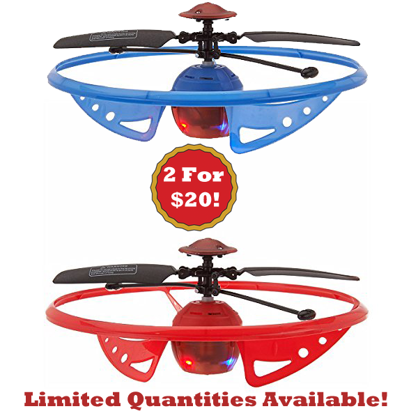 VIP Special - 2 For 20! Infrared Light-Up Rebound Hovering UFO