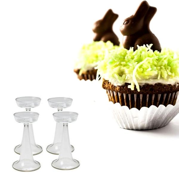 All Deals - 4 Pack: Cupcake Pedestal Set