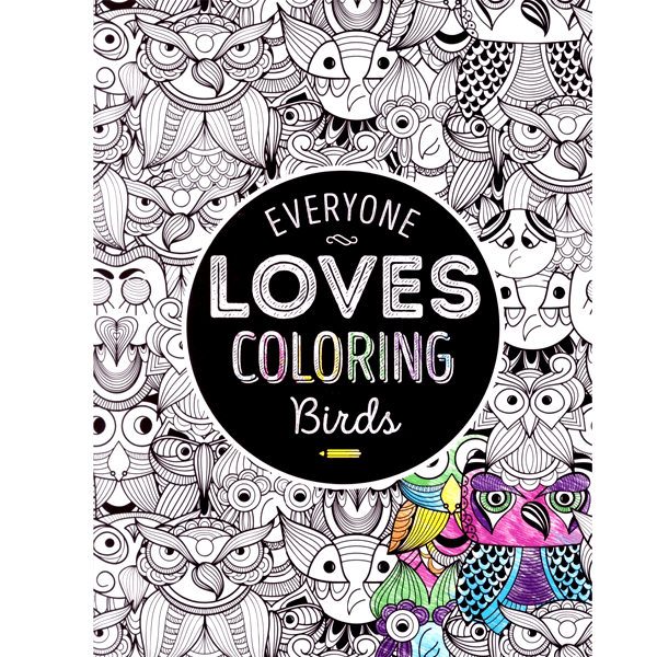 All Deals - Adult Coloring Book - Everyone Loves Coloring Birds