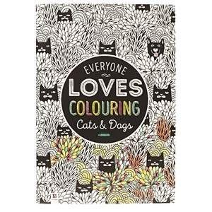 All Deals - Adult Coloring Book - Everyone Loves Coloring Cats And Dogs