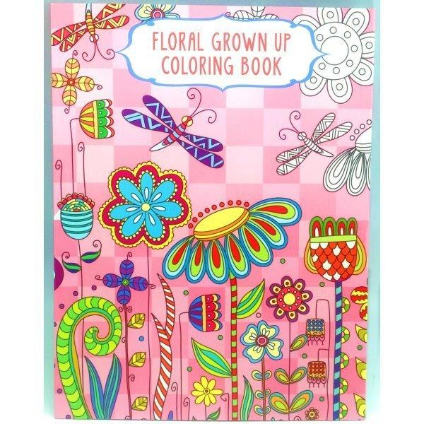 all deals adult coloring books set of 4 floral grown up colouring book - Grown Up Coloring Books