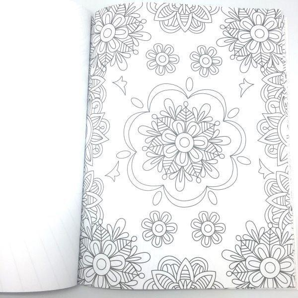 Set of 4: Adult Coloring Books - Floral Theme | LivingDeal