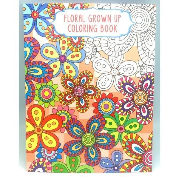 All Deals - Adult Coloring Books Set Of 4 - Floral Grown Up Colouring Book