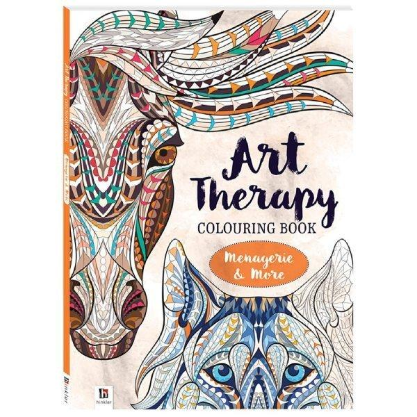 All Deals - Art Therapy Colouring Book Menagerei And More