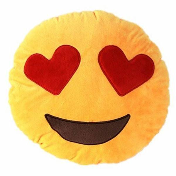 All Deals - Emoji Heart Shape Eyes Cushion Pillow